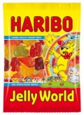 Haribo Jelly World 30 Beutel 100g Fruchtgummi Gummibärchen
