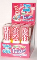 Two to One Pop+Toy Twister 12 Stück Schleckstengel Lollipop