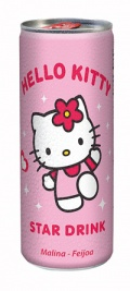 Hello Kitty Star Drink Himbeer Framboise 24 Stück à 250ml